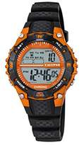 Calypso Unisex Digital Watch with LCD Dial Digital Display and Black Plastic Strap K5684/7