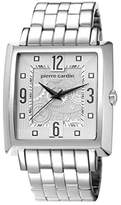 Pierre Cardin Sevres Men's Quartz Watch with Silver Dial Analogue Display and Silver Stainless Steel Bracelet PC106361S07