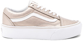 Vans Old Skool Platform Sneaker in Metallic Gold