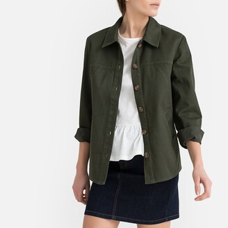 La Redoute Collections Linen/Cotton Utility Safari Jacket with Buttons