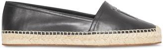 Burberry Monogram Motif Leather Espadrilles
