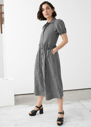 And other stories Relaxed Puff Sleeve Midi Dress