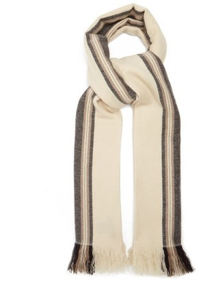 Isabel Marant Carver Jacquard-striped Cashmere Scarf - Beige