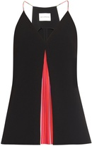 Mary Katrantzou Acer rainbow-pleats top