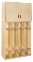 Contender 4 Tier 4 Wide Home Locker Wood Designs Assembly: Unassembled