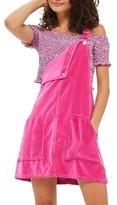 Topshop Women's Velvet Pinafore Dress