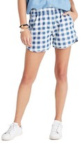 Madewell Women's Gingham Check Pull-On Shorts