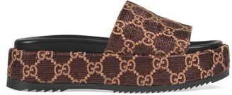 Gucci Women's GG lame slide sandal