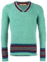 Nuur striped v-neck jumper