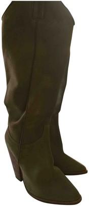Pierre Hardy Beige Suede Boots