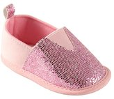 Luvable Friends Girl's Sparkly Slip-On Girl's Boat Shoe
