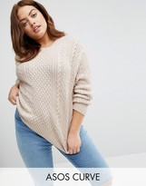 Asos Cable Jumper In Slouchy Shape