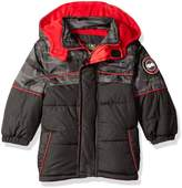 iXtreme Little Boys' Camo W/ Grid Cut and Sew Puffer