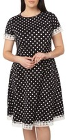 Dorothy Perkins Plus Size Women's Polka Dot Fit & Flare Dress