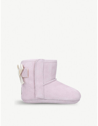 UGG Jesse bow suede boots II and beanie set