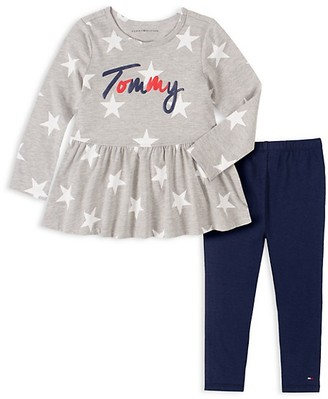 Tommy Hilfiger Little Girl's 2-Piece Star-Print Tunic & Leggings Set