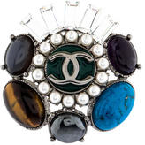 Chanel Multistone CC Brooch