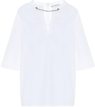 Givenchy Embellished cotton blouse
