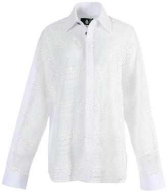 Natasha Zinko White Lace Long Sleeve Shirt