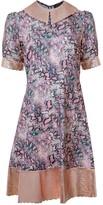 Manley Harper Leather Collar Dress - Snake Print & Champagmne