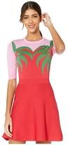 Moschino Palm Tree Knit Dress (Red Multi) Women's Clothing