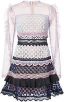 Self-Portrait lace trim dress
