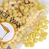 TONSEE No Strip Depilatory Hot Film Hard Wax Pellet Waxing Bikini Hair Removal Bean, 100g/bag (Honey)