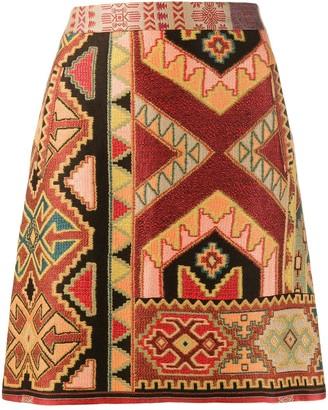 Etro Mini Jacquard Skirt