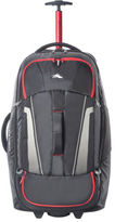 High Sierra NEW 87275-1041 Composite Wheeled duffle 76cm : Black/Red 2.9kg