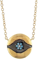 Ileana Makri IaM by Evil Eye Medallion Necklace - Yellow Gold