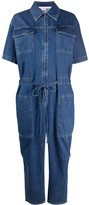 Stella McCartney short-sleeve denim jumpsuit