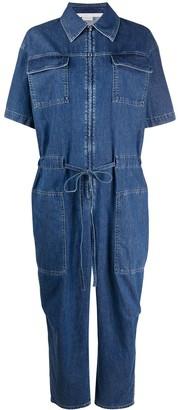 Stella McCartney Short-Sleeve Denim Jumpsuit