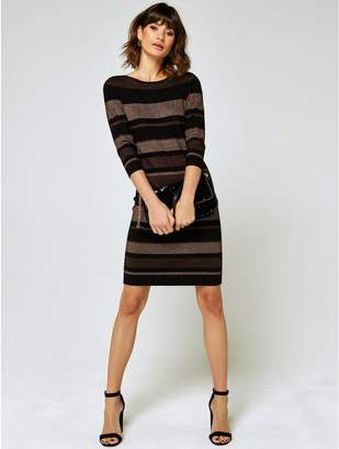 M&Co Striped knitted dress
