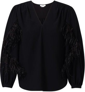 Jason Wu Feather Panel Blouse
