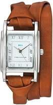 La Mer Women's Quartz Metal and Leather Casual Watch, Color:Brown (Model: LMMILWOOD011)