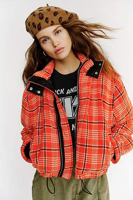 We The Free Strike Out Plaid Puffer Jacket by at Free People