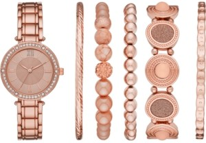 Folio Women's Rose Gold-Tone Bracelet Watch 32mm Gift Set