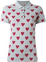 Burberry heart print polo shirt