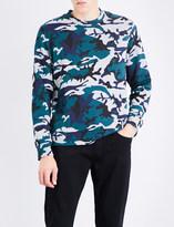 Sandro Camouflage-print jersey sweatshirt