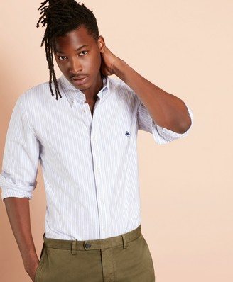 Brooks Brothers Multi-Stripe Cotton Oxford Sport Shirt