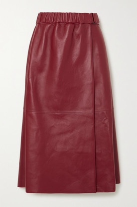 Acne Studios Leather Wrap Skirt - Red