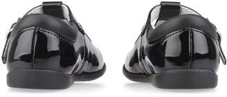 Start Rite Younger Girls Swirl T-Bar School Shoes - Black Patent