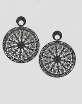 Asos Filigree Disc Earrings
