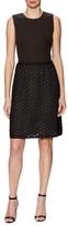 Armani Collezioni Lace Skirt Fit And Flare Dress