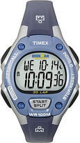 Timex Women's Ironman | Blue with Gray Band Digital 30-Lap Mid Size T5K018