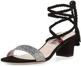 Sarah Jessica Parker Elope Wrap & Tie Party Sandal, Silver/Black