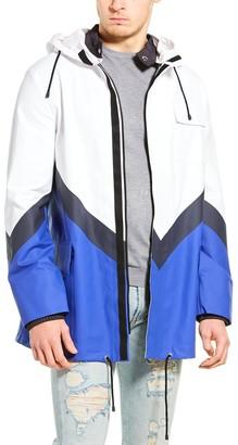 Valentino Colorblock Rain Coat