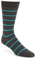 Pantherella Men's Blavet Spaced Breton Stripe Crew Socks