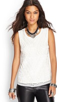 Forever 21 Embroidered Bead Tank