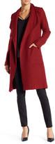 Dex Long Sleeve Wool Blend Coat